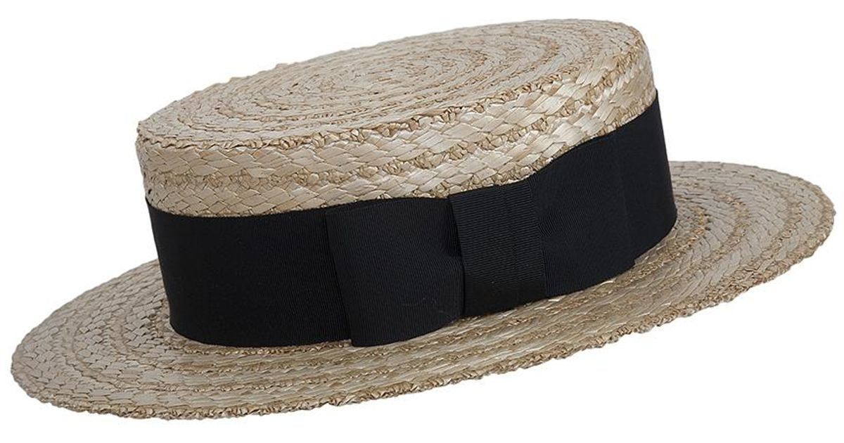 732bc007 Olney Boater Straw Hat for Men - Lyst