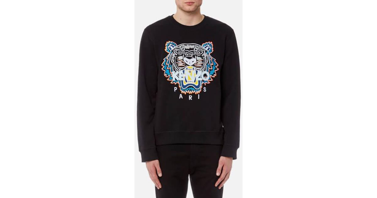 7b6bd987 KENZO Men's Actua Tiger Sweatshirt in Black for Men - Lyst