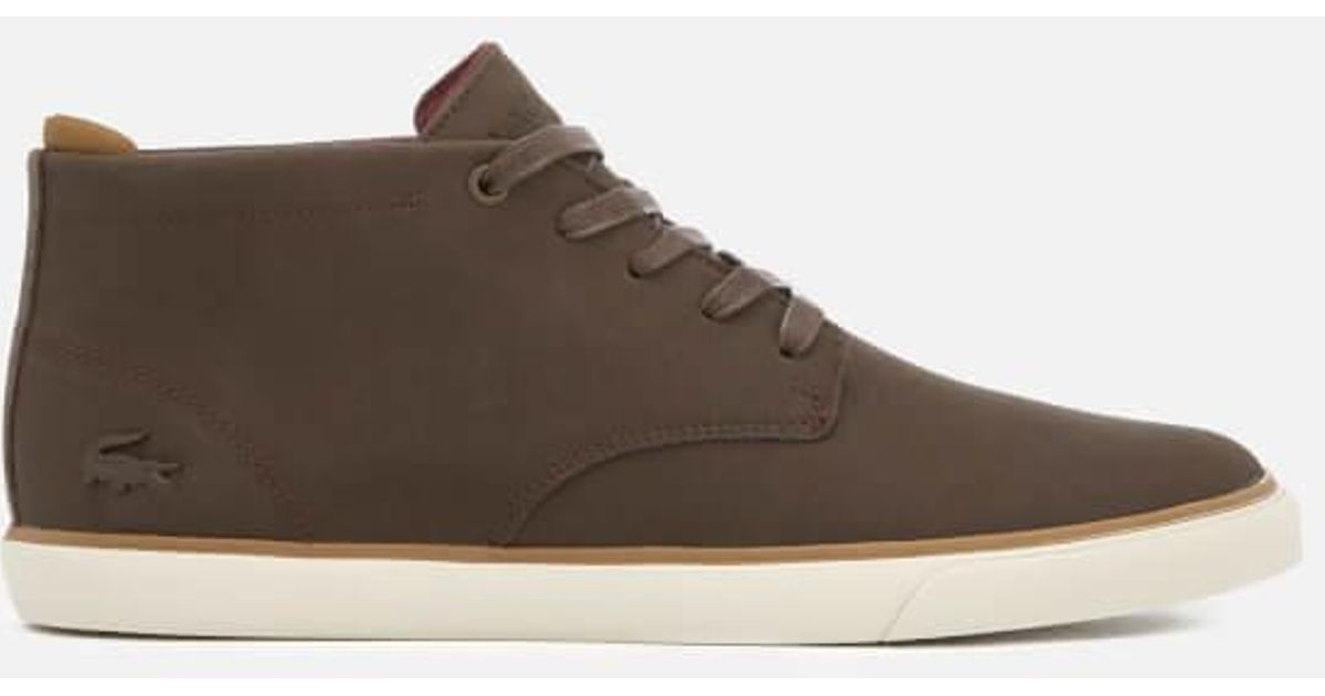 948415416 Lyst - Lacoste Men s Esparre Chukka 318 1 Leather suede Derby Chukka Boots  in Brown for Men