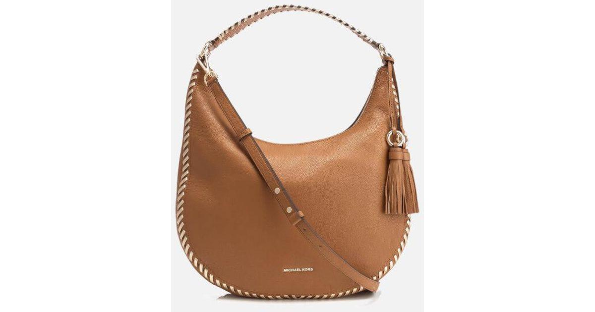 b00e1340e8 Lyst - MICHAEL Michael Kors Women s Lauryn Large Shoulder Bag in Brown