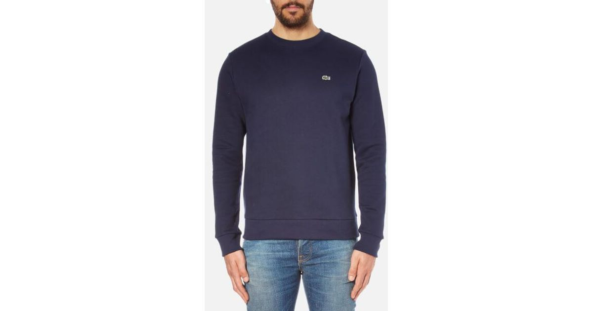 282e9cf04 Lacoste Men s Sweatshirt in Blue for Men - Lyst