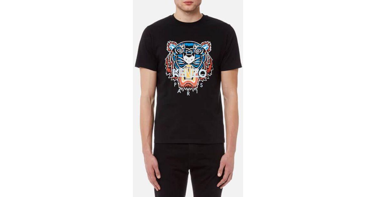 8fc7c036d KENZO Men's Actua Tiger Tshirt in Black for Men - Lyst