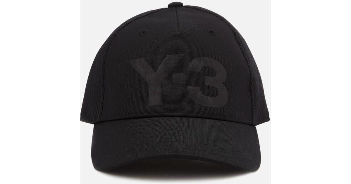 2a33f2f40 Y-3 Y3 Men's Trucker Cap in Black for Men - Lyst