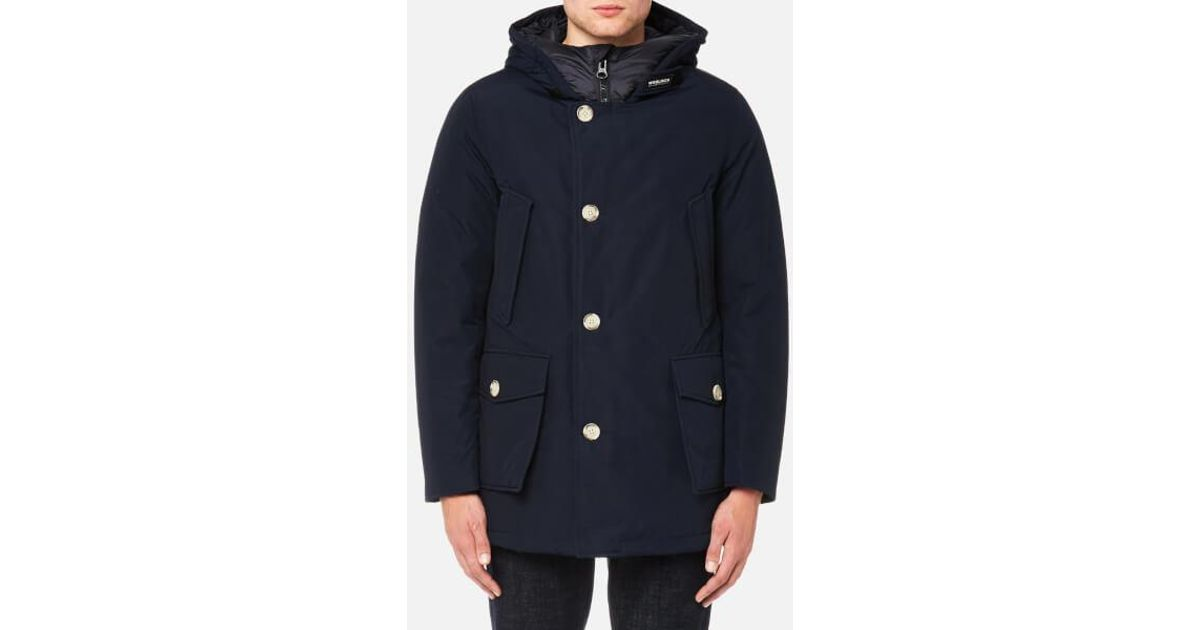 5887db45b38c Woolrich Men's Arctic Parka Nf Jacket in Blue for Men - Lyst