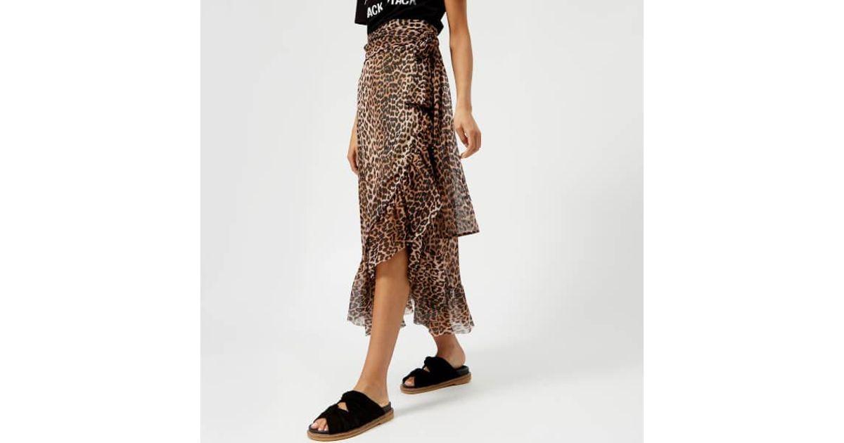 fa63d2bb1d9e64 Ganni Women's Tilden Mesh Skirt in Brown - Lyst