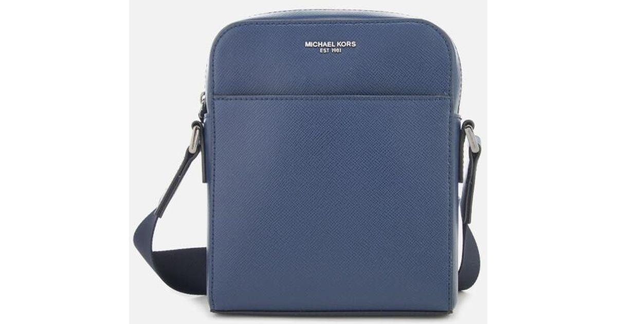 e3a7bef093b0 Lyst - Michael Kors Men's Harrison Flight Bag in Blue for Men