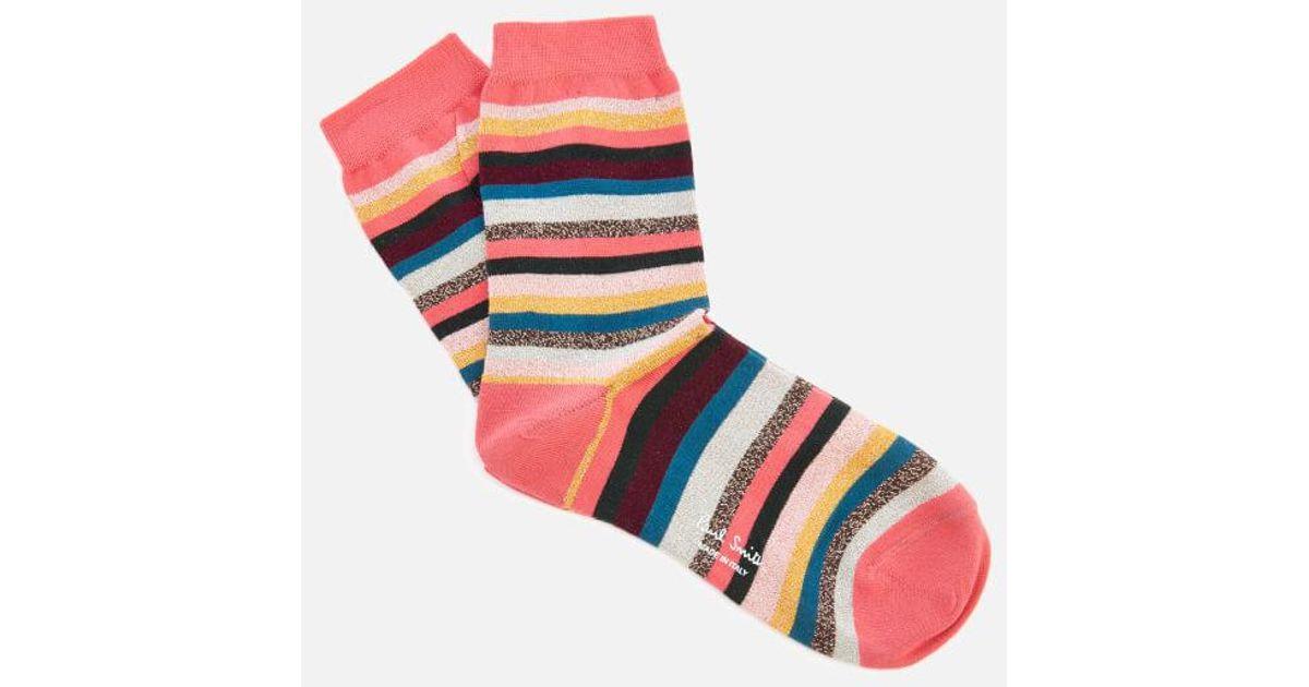 b2de8ffa1 PS by Paul Smith Clarissa Lurex Swirl Socks - Lyst