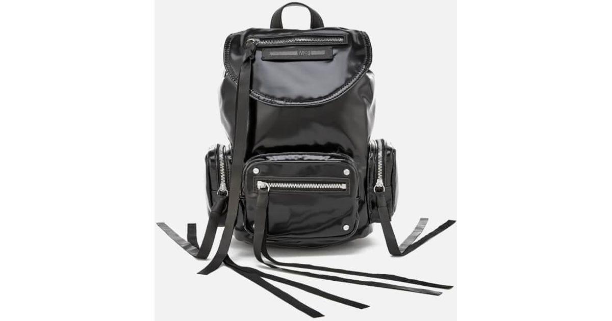 2585c7b2468 Mcq Alexander Mcqueen Women s Mini Conv Vinyl Drawstring Bag in Black - Lyst