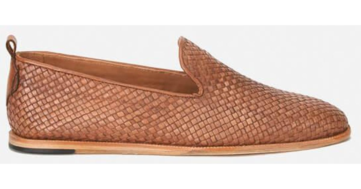 0042c7b3073 Lyst - H by Hudson Men s Ipanema Weave Slip On Leather Shoes in Brown for  Men