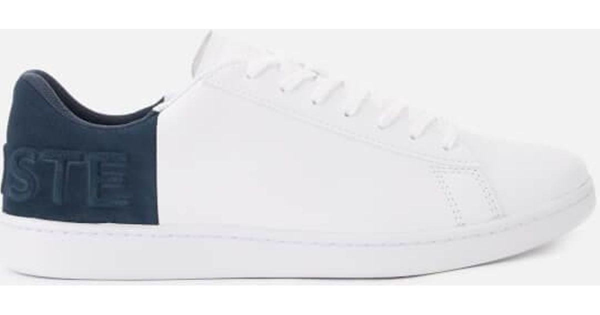 a5bef9125dbf Lyst - Lacoste Men s Carnaby Evo 318 6 Leather suede Trainers in White for  Men