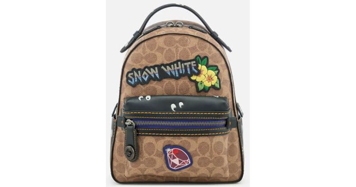fc960c5a3b8 Coach Women s Disney X Coach Coated Canvas Snow White Campus Backpack 23 in  White - Lyst