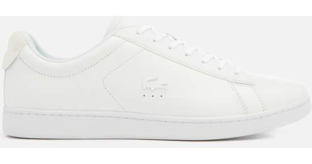 aee8d7135 Lyst - Lacoste Men s Carnaby Evo 318 7 Croc Leather Trainers in White for  Men