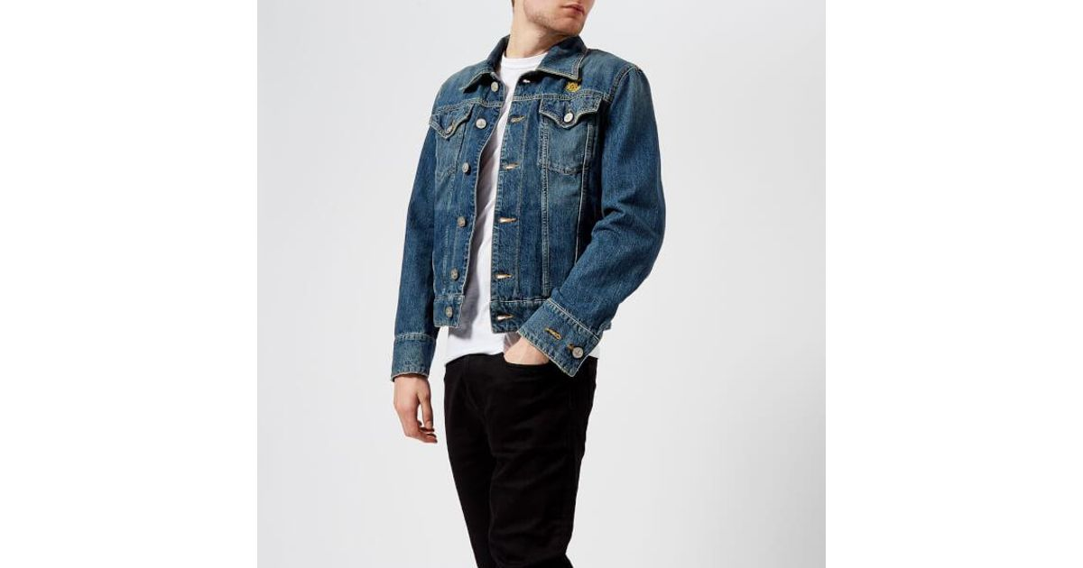 Lyst - Vivienne Westwood Anglomania Men s New D Ace Jacket in Blue for Men d63fc4b22