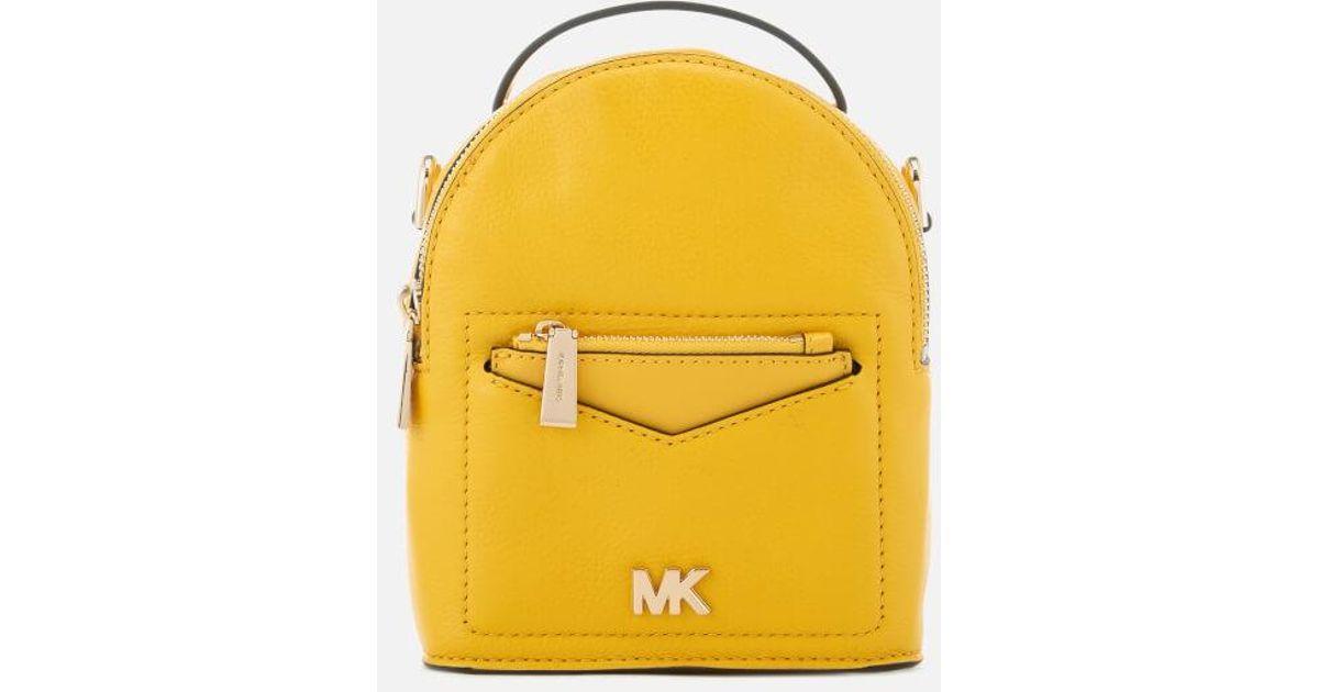 c3e3c3e54d0a20 MICHAEL Michael Kors Women's Jessa Extra Small Convertible Backpack in  Yellow - Lyst
