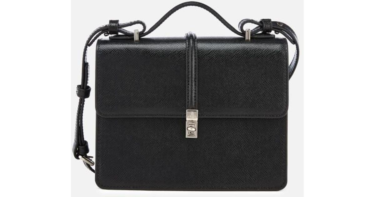 Lyst - Vivienne Westwood Sofia Medium Shoulder Bag in Black 4694f73525a22