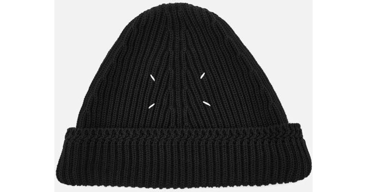 Lyst - Maison Margiela Men s Wool Hat in Black for Men e7125993383