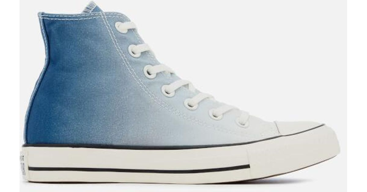 e344ee38798 Lyst - Converse Women s Chuck Taylor All Star Hitop Trainers in Blue
