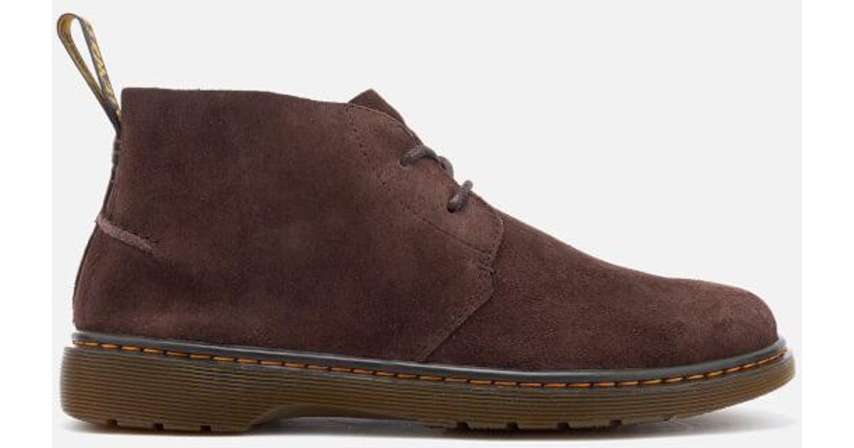 f41031d93a2b41 Dr. Martens Men's Ember Bronx Suede Lace Low Boots in Brown for Men - Lyst