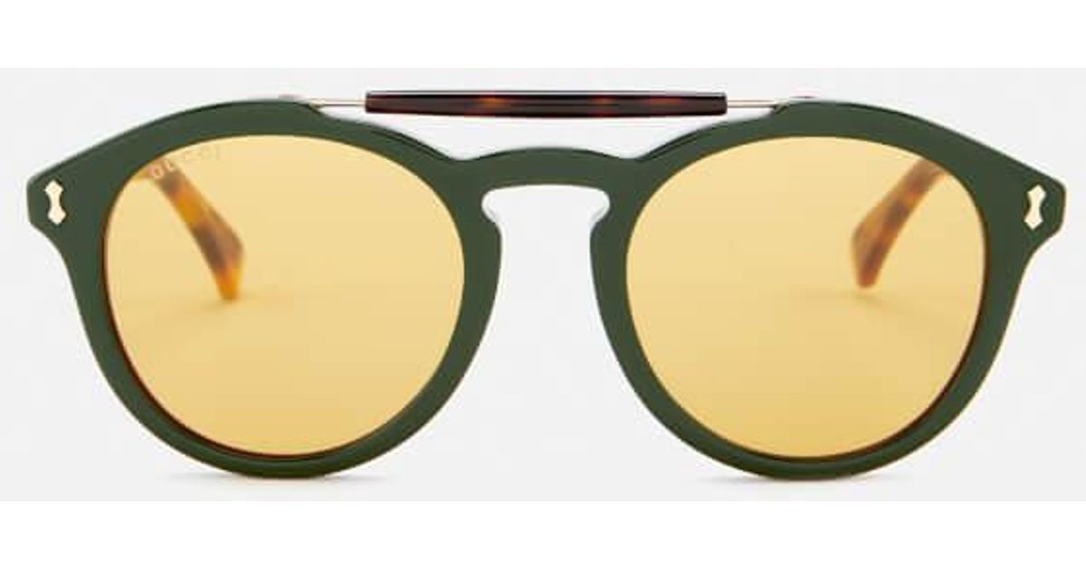 f8c623339 Gucci Men's Flip Top Aviator Sunglasses in Green for Men - Lyst
