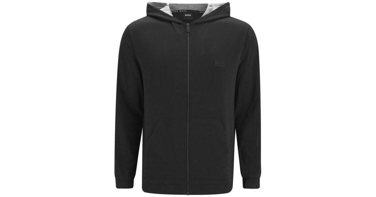 6ce6469b6d85 Lyst - BOSS Men s Small Logo Zipped Hoody in Black for Men