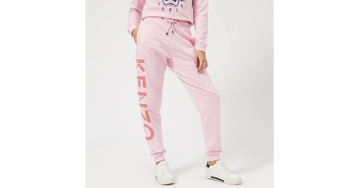 4fd18d57 KENZO Women's Logo Sweatpants in Pink - Lyst
