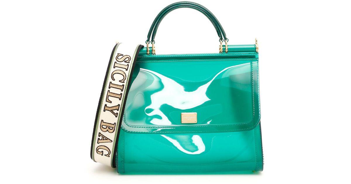 31a1de5def Lyst - Dolce   Gabbana Pvc Sicily Bag in Green