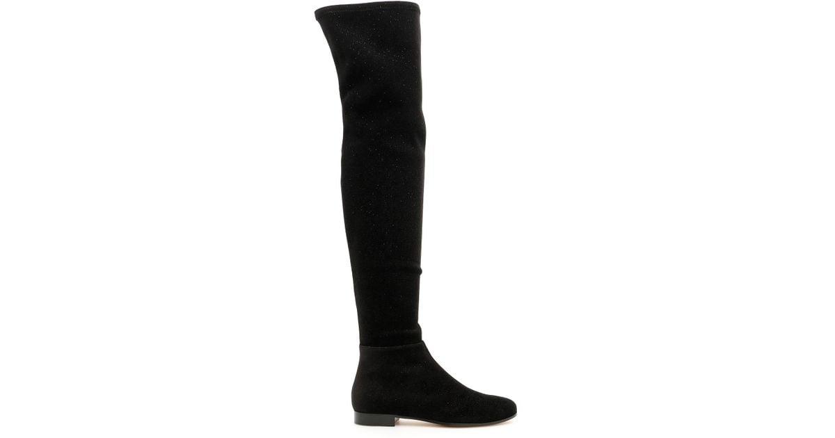 47deff6db0c Lyst - Jimmy Choo Stretch Velvet Myren Boots in Black