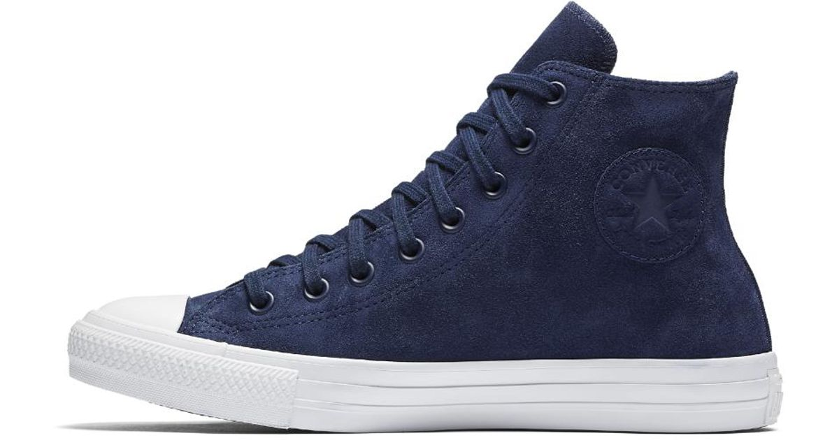 92b0bd4bfad7 Lyst - Converse Chuck Taylor All Star Water Resistant Suede High Top Shoe  in Blue for Men