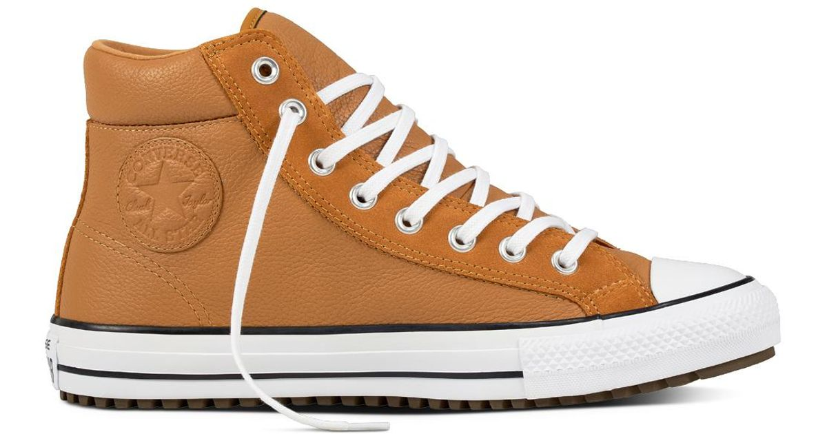 3c49ab049cb771 Converse Chuck Taylor All Star Boot Pc Leather + Suede in Brown for Men -  Lyst