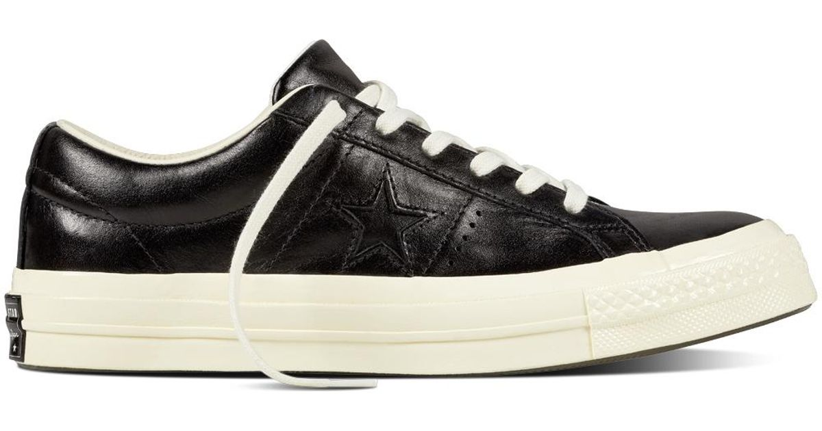 Converse One Star Leather OX Black