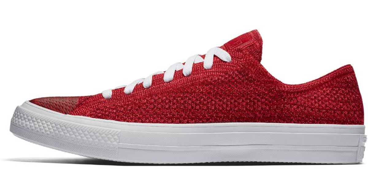 af28d669dbb Lyst - Converse Chuck Taylor All Star X Nike Flyknit Low Top Men s Shoe in  Red for Men