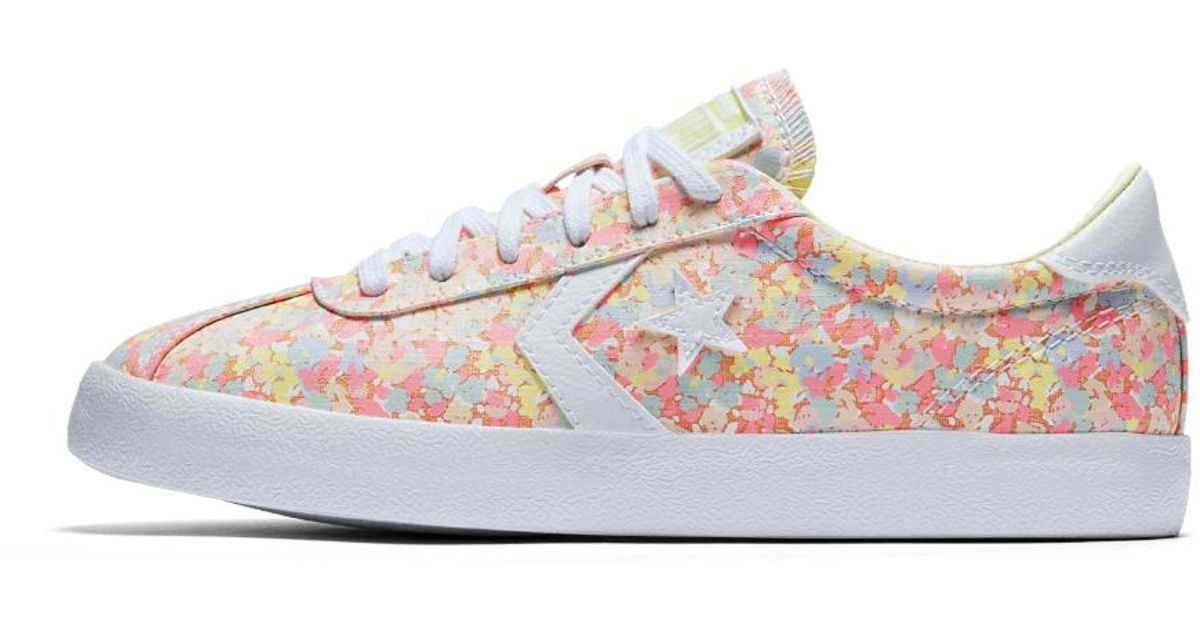 Lyst - Converse Breakpoint Floral Low Top Women s Shoe in Pink b31ceb05e