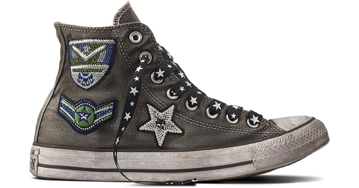 1c2f8378e035e2 Converse Chuck Taylor All Star Army Patchwork in Black - Lyst