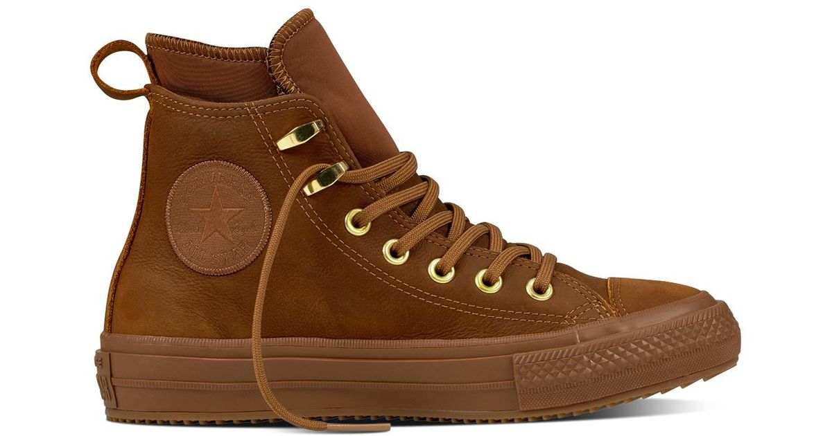 9d484c283afb Converse Chuck Taylor All Star Waterproof Nubuck Boot in Brown for Men -  Lyst