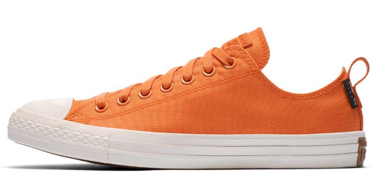 0ab303a9f5306e Lyst - Converse Chuck Taylor All Star Cordura Low Top Shoe in Orange