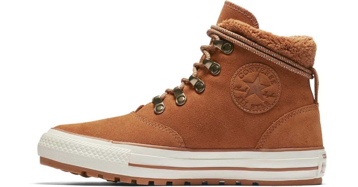 Converse Brown Chuck Taylor All Star Ember Boot Suede And Faux Fur High Top Women's Shoe