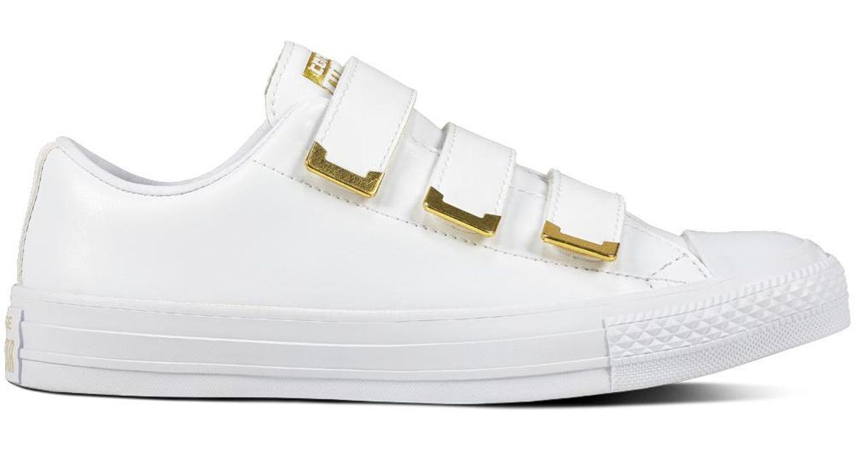 d23dcf6cf38519 Converse Chuck Taylor All Star 3v Sl + Hardware in White - Lyst