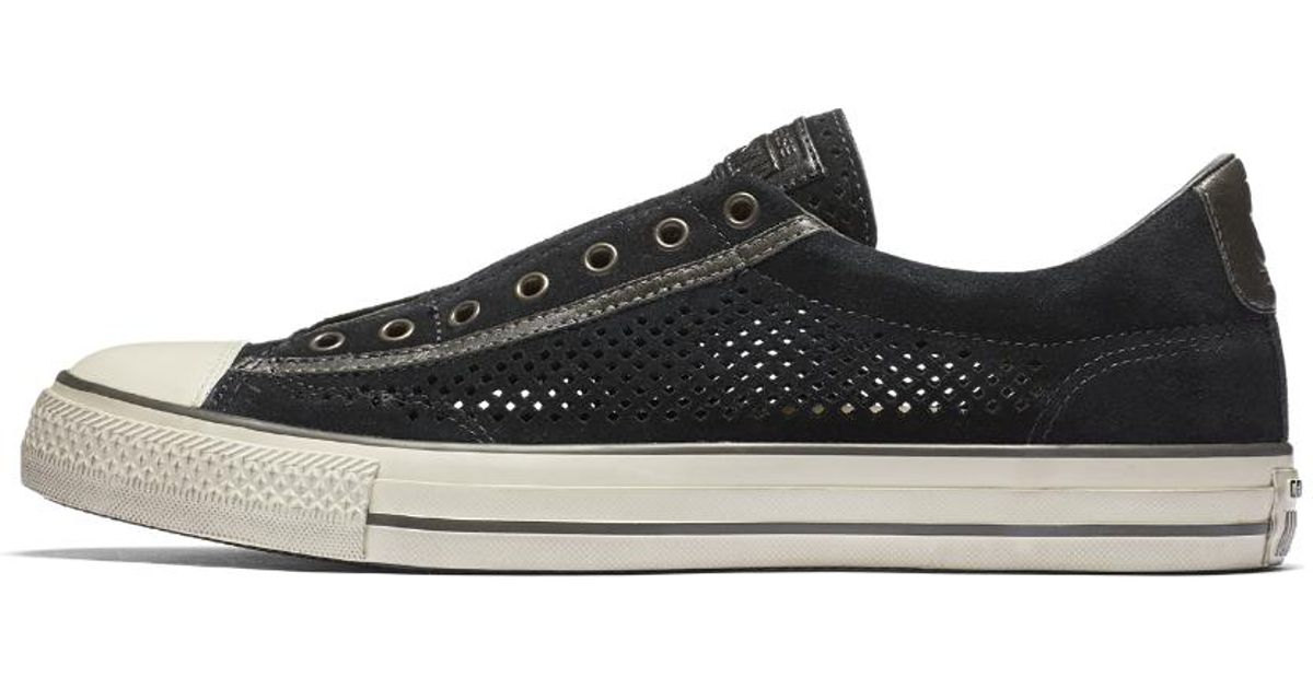 f4959084dec4 Lyst - Converse X John Varvatos Chuck Taylor All Star Perforated Leather  Slip-on Shoe in Black for Men