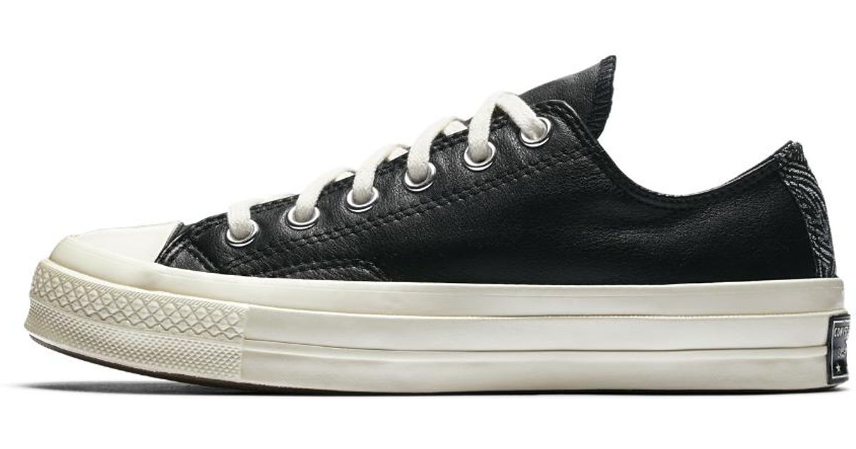 03ce64a629bc Lyst - Converse Chuck Taylor All Star  70 Leather And Tapestry Low Top  Women s Shoe in Black