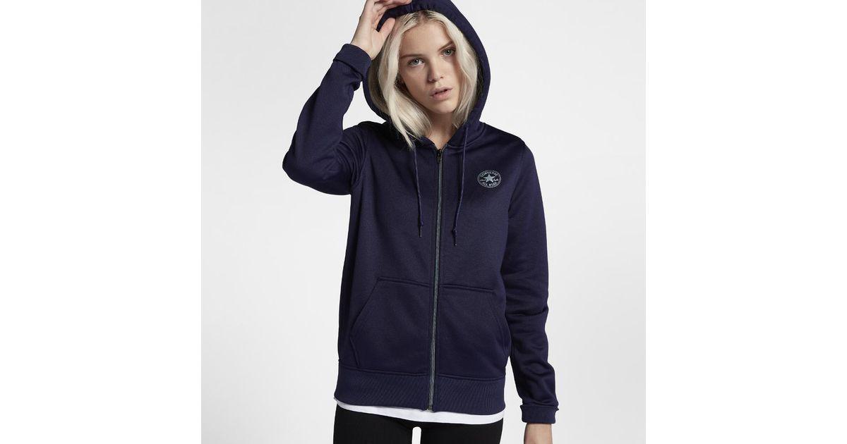 Lyst - Converse Chuck Patch Signature Full-zip Women s Hoodie in Purple 6600018432