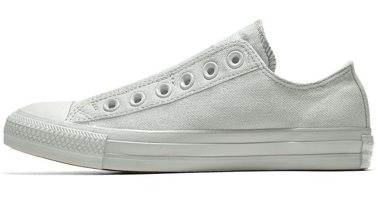 fa3d7cb33c33 Lyst - Converse Custom Chuck Taylor All Star Slip Low Top Shoe in White for  Men