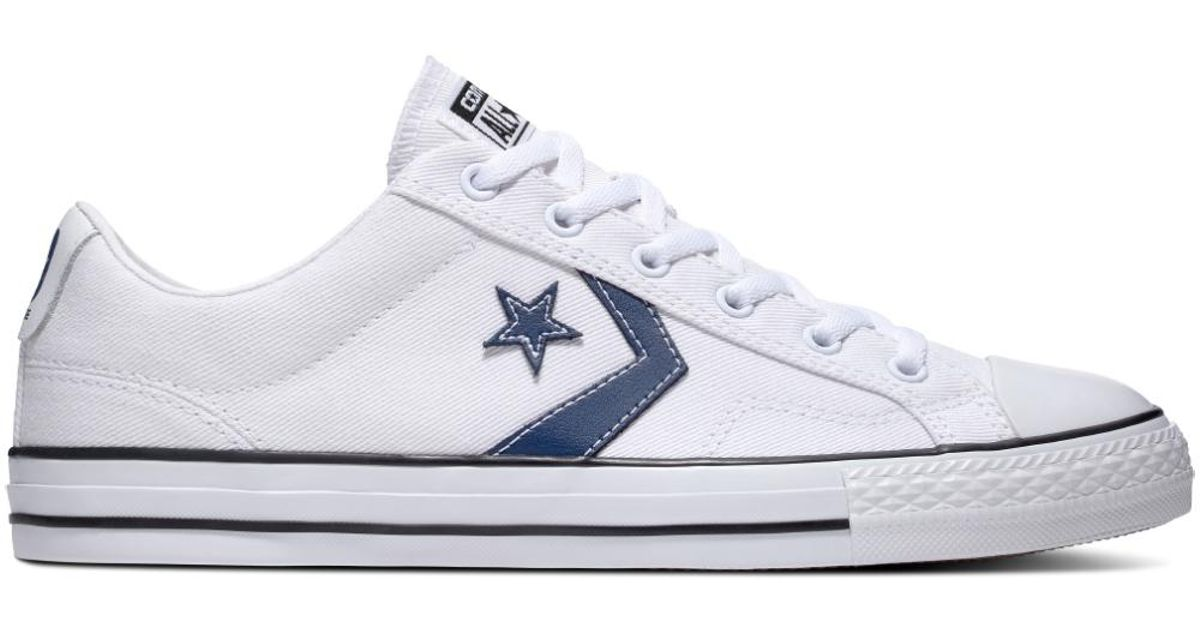 e2bb3a152211 Converse Star Player Summer Twill in White - Lyst