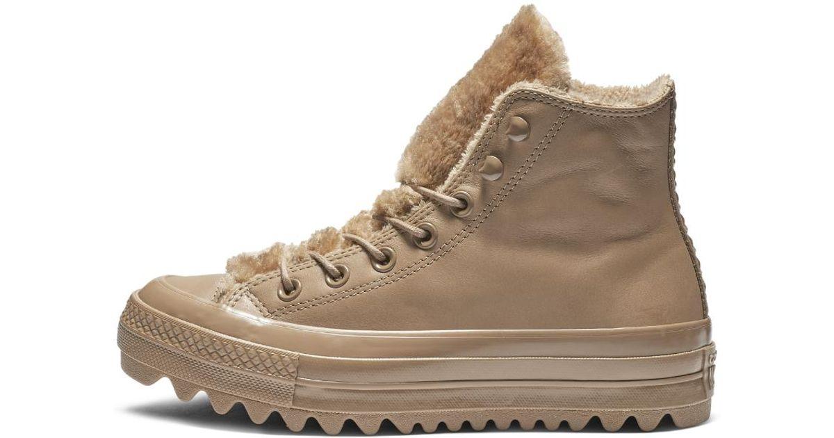 c3ecb072a244 Lyst - Converse Chuck Taylor All Star Street Warmer Ripple High Top Women s  Shoe in Brown
