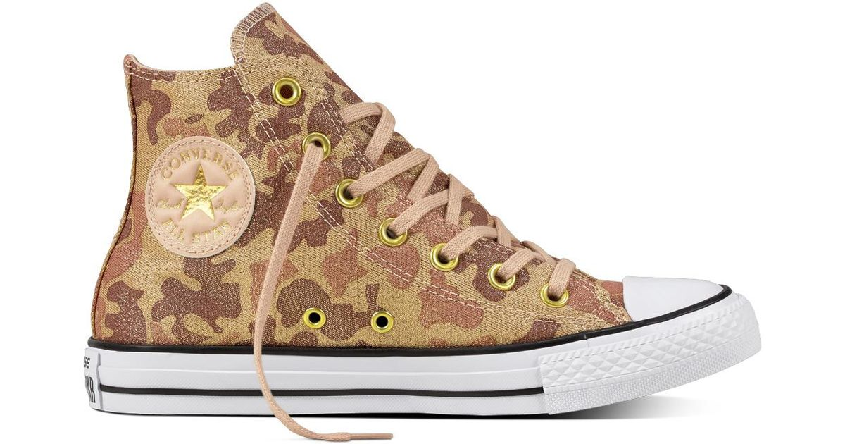 b5703450460c43 Converse Chuck Taylor All Star Lurex Camo in Natural - Lyst