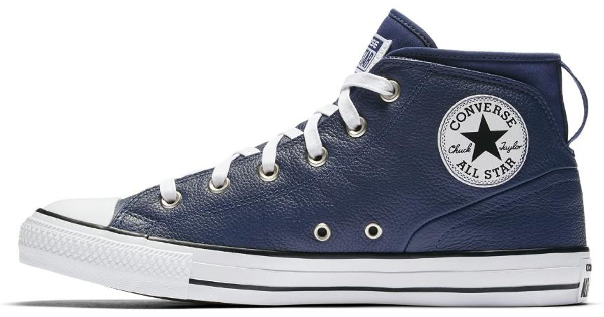 59c8e4b1a14c Lyst - Converse Chuck Taylor All Star Syde Street Leather High Top Men s  Shoe in Blue for Men