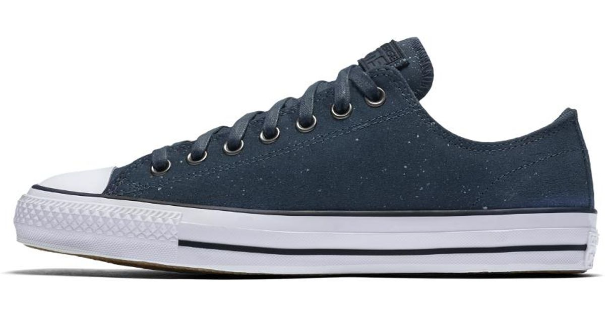 dce311268f99 Lyst - Converse Cons Ctas Pro Peppered Suede Low Top Men s Skateboarding  Shoe in Blue for Men