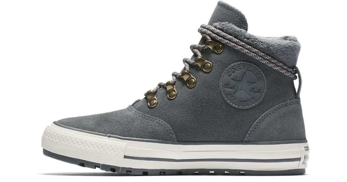 4d0e1ee22424 Lyst - Converse Chuck Taylor All Star Ember Boot Suede And Faux Fur High  Top Women s Shoe in Brown