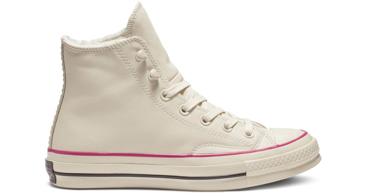 Converse White Chuck 70 Street Warmer Leather High Top