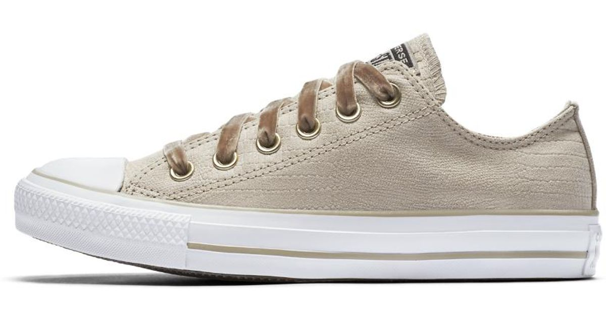 c9df23153395 Lyst - Converse Chuck Taylor All Star Gator Glam Low Top Women s Shoe in  Brown