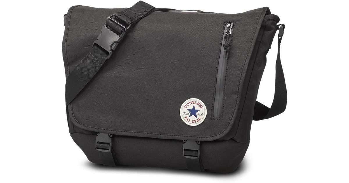 Converse Chuck Taylor All Star Messenger Bag in Black for Men - Lyst 52e4b73f8cac0